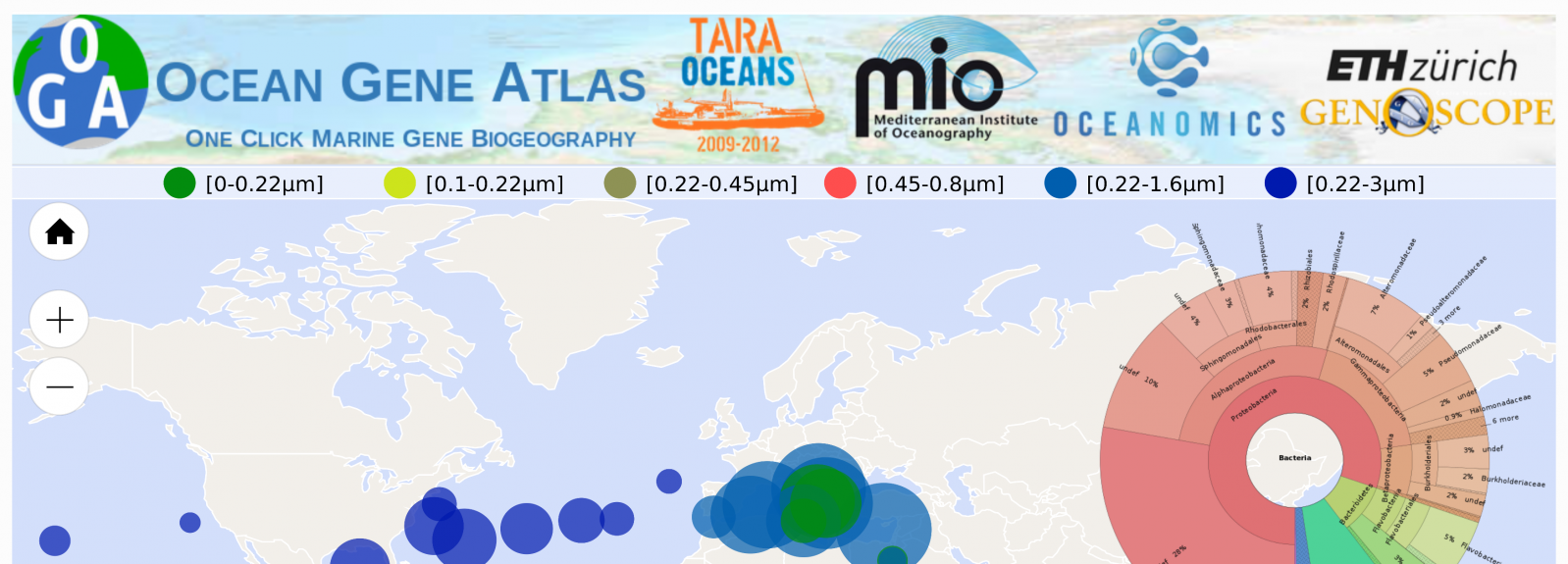 Ocean Gene Atlas, explore marine Big Data with nothing but a web browser
